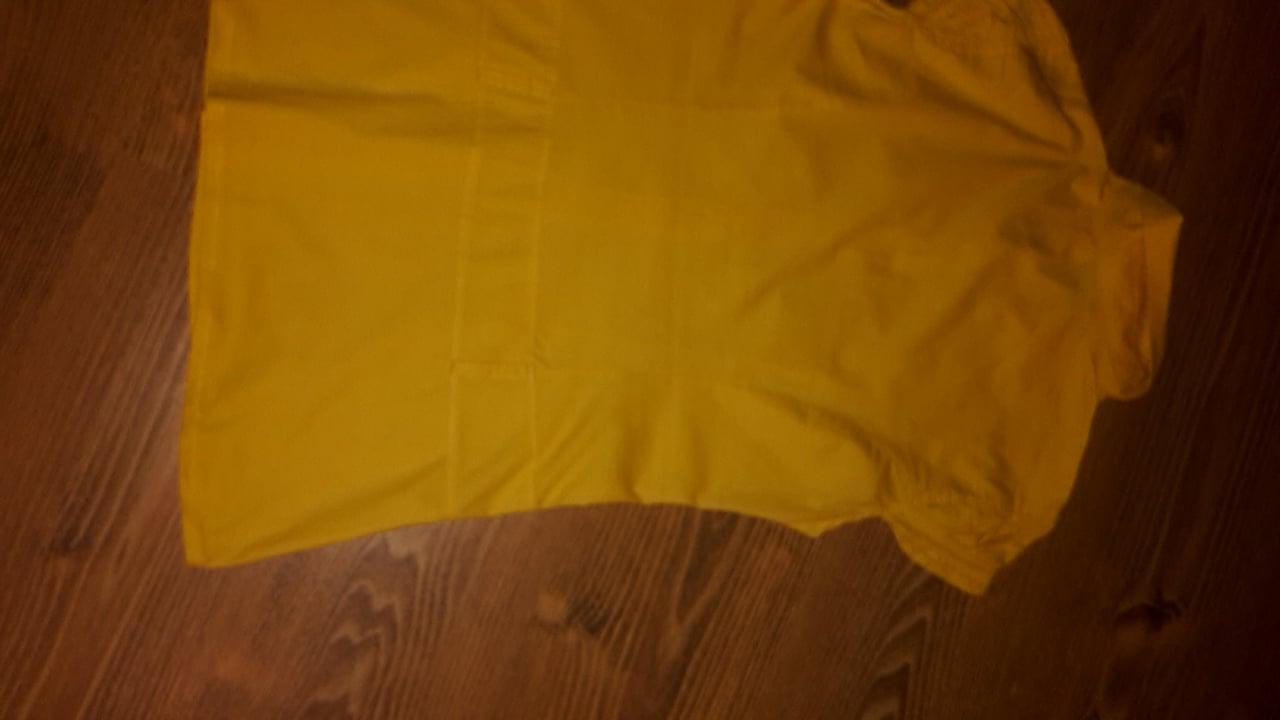 Žltá predĺžená elastická blúzka S/M - Obrázok č. 4