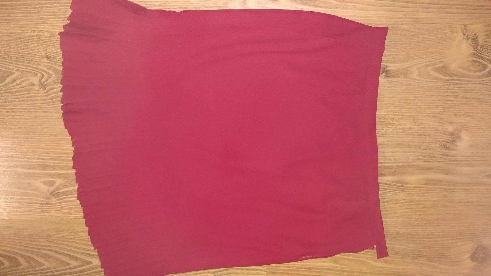 Bordovo červená kostýmová sukňa XXL/XXXL - Obrázok č. 4
