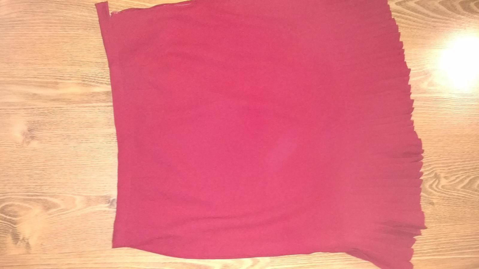 Bordovo červená kostýmová sukňa XXL/XXXL - Obrázok č. 1