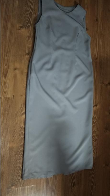 Kostýmové sivé dlhé šaty - Obrázok č. 1