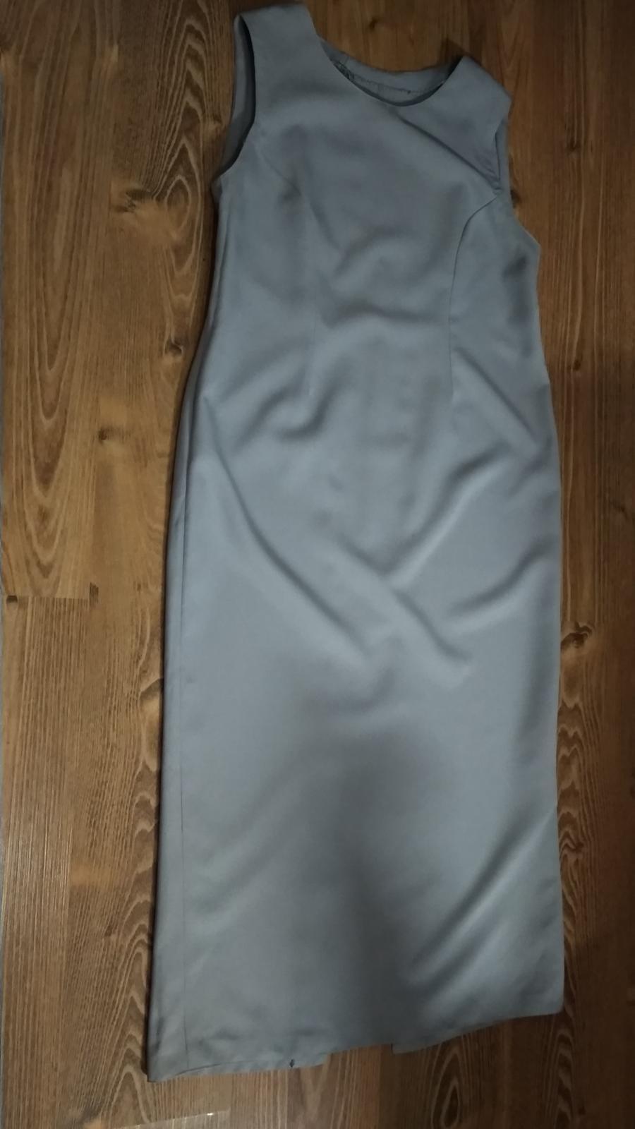 Kostýmové sivé dlhé šaty - Obrázok č. 2