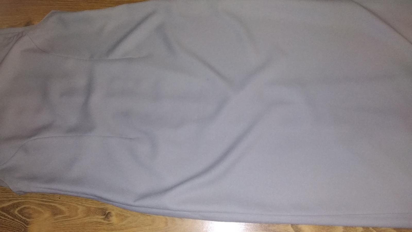 Kostýmové sivé dlhé šaty - Obrázok č. 4