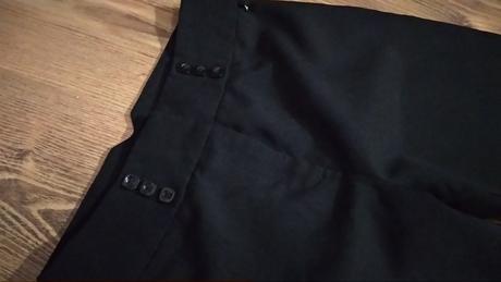 Čierne dievčenské kostýmové elegantné nohavice - Obrázok č. 1