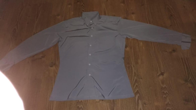 Strieborno sivá košeľa - Obrázok č. 2
