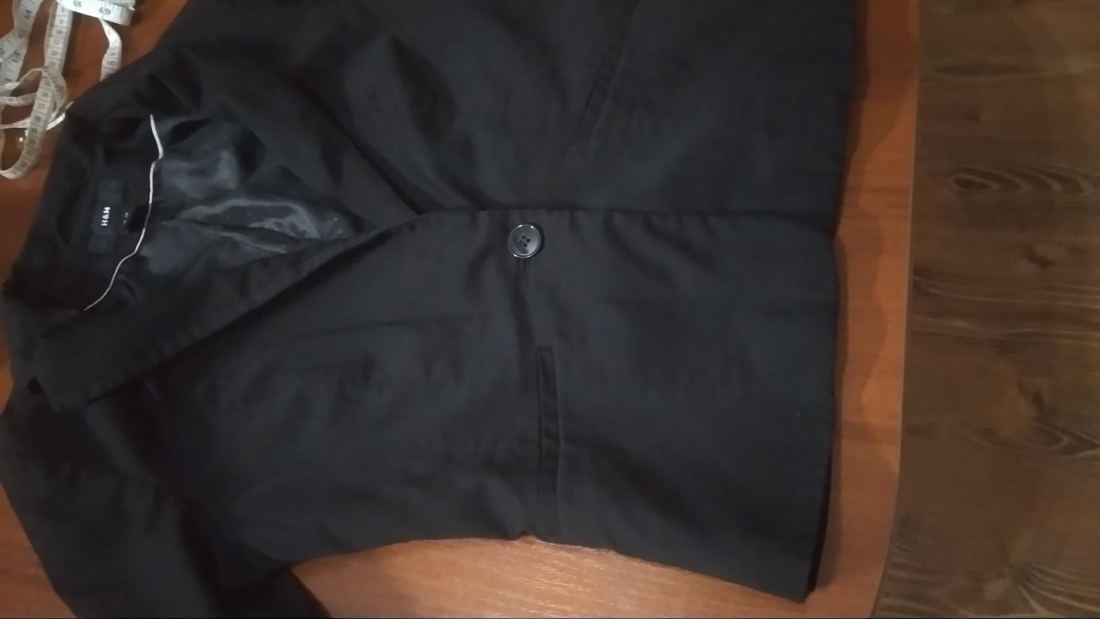Čierne sako málinko nosené - Obrázok č. 3