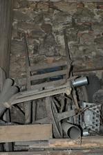 dřevěný trakač