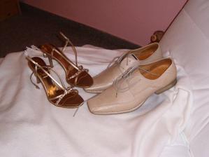 botičky ženicha a nevěsty