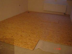 hotová podlaha v obýváku