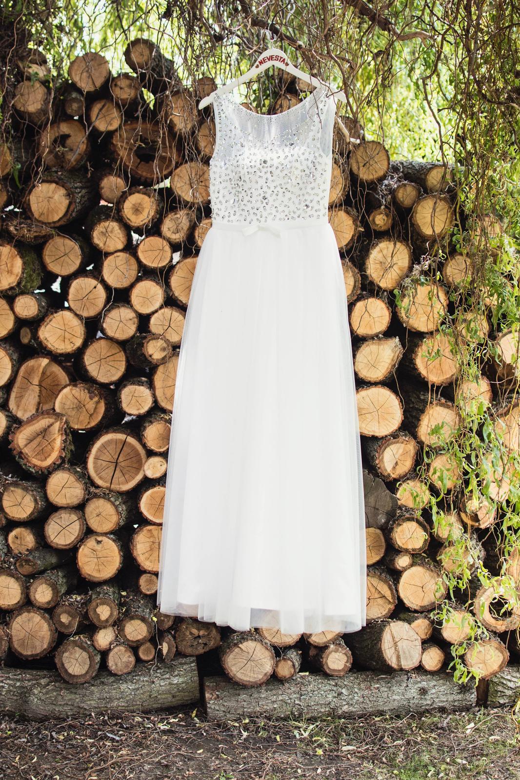Svadobné šaty+bolerko+obal na šaty+vešiak nevesta - Obrázok č. 1