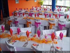 Ružovo oranžový sen :) Moja výzdoba - moja svadba :)