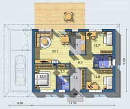 tento dom je velmy dobré riešený, samostatná kúpeľňa pre rodičov je na nezaplatenie