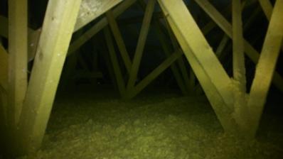 27.6.2014 , nafúkaná izolácia do stropu nad sadrokartón /35 cm/