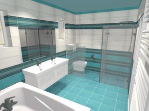 asi finálna vizualizácia kúpelky :P , sklo pri wc bude nepriehľadné