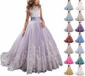 Detské spoločenské šaty, 134