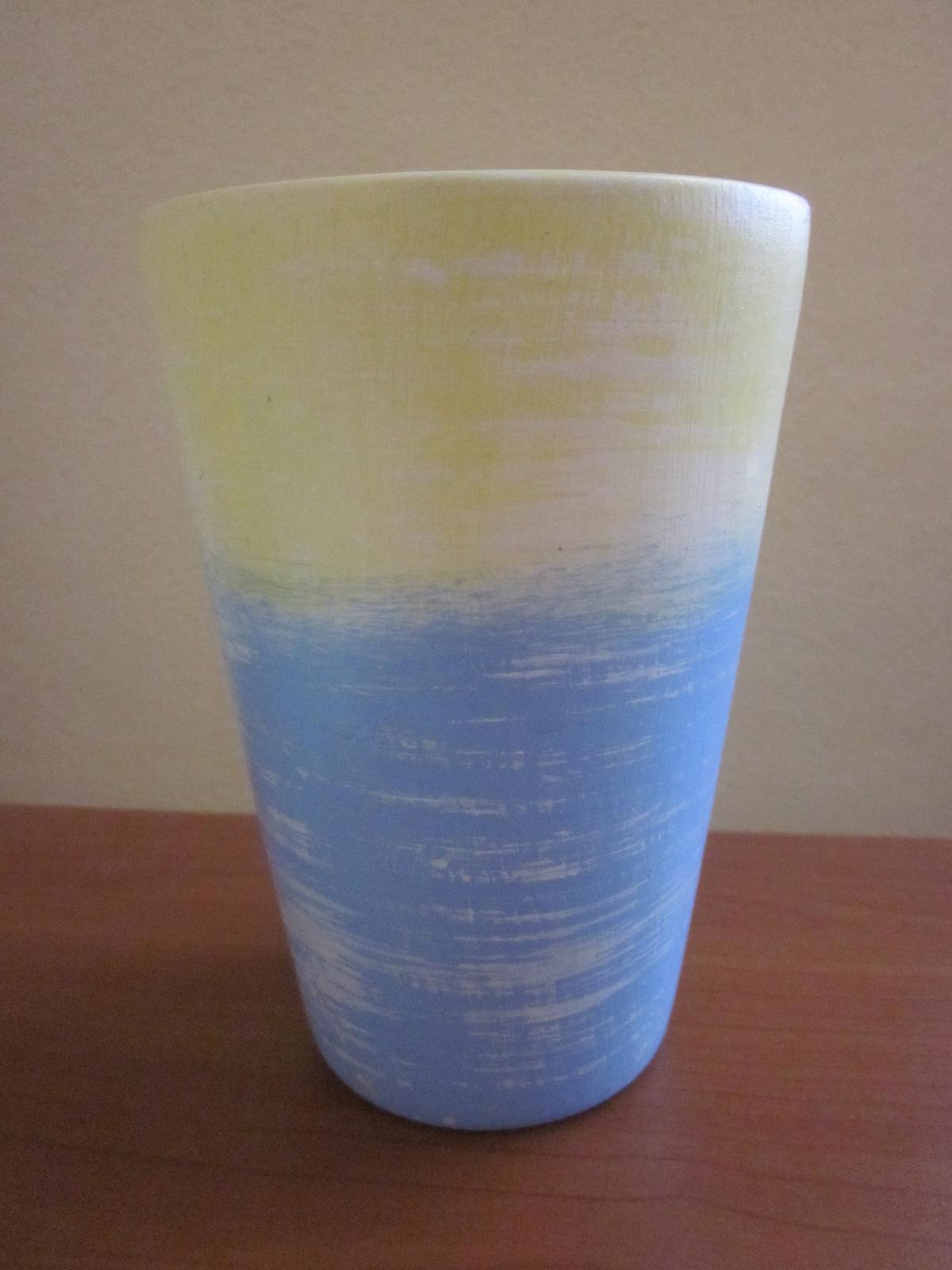 Váza modro-žltá - Obrázok č. 1