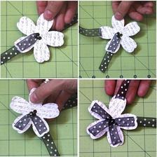 DIY: http://forscrappingoutloud.blogspot.sk/2010/08/woven-flower-tutorial.html