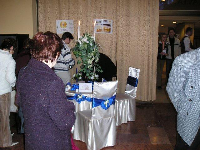 Výstava SVADBA 2005 Košice, HOTEL SLOVAN - výzdoba