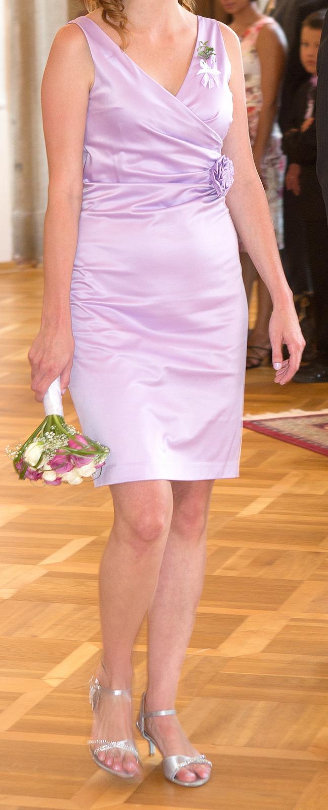 Butikové šaty lila  - Obrázek č. 2