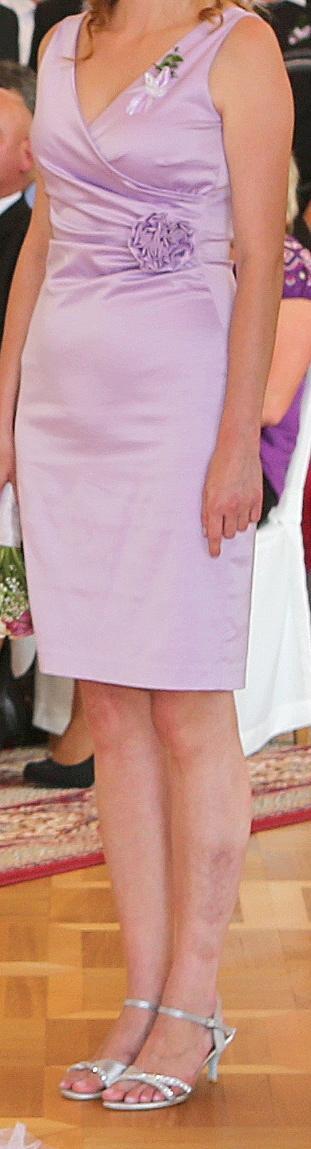 Butikové šaty lila  - Obrázek č. 3
