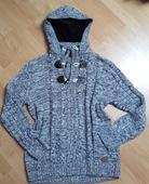 Pánský svetr Slim Fit s kapucí , XL