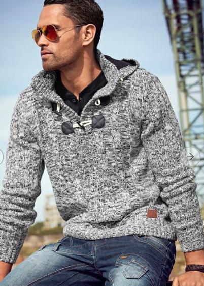 Pánský svetr Slim Fit s kapucí  - Obrázek č. 3