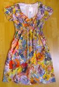 Těhotenské květované šaty , M