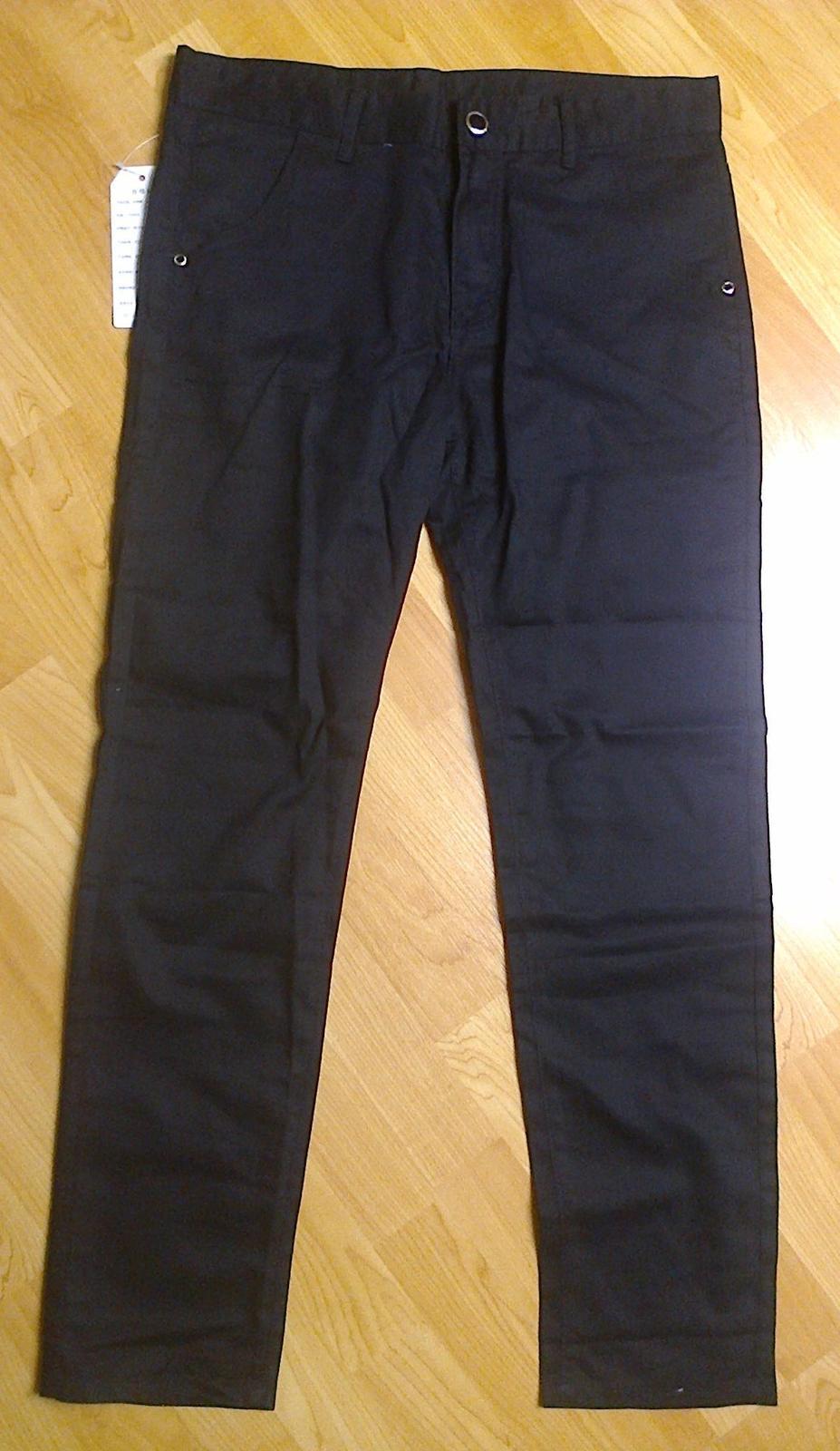 Pánské černé kalhoty  - Obrázek č. 1