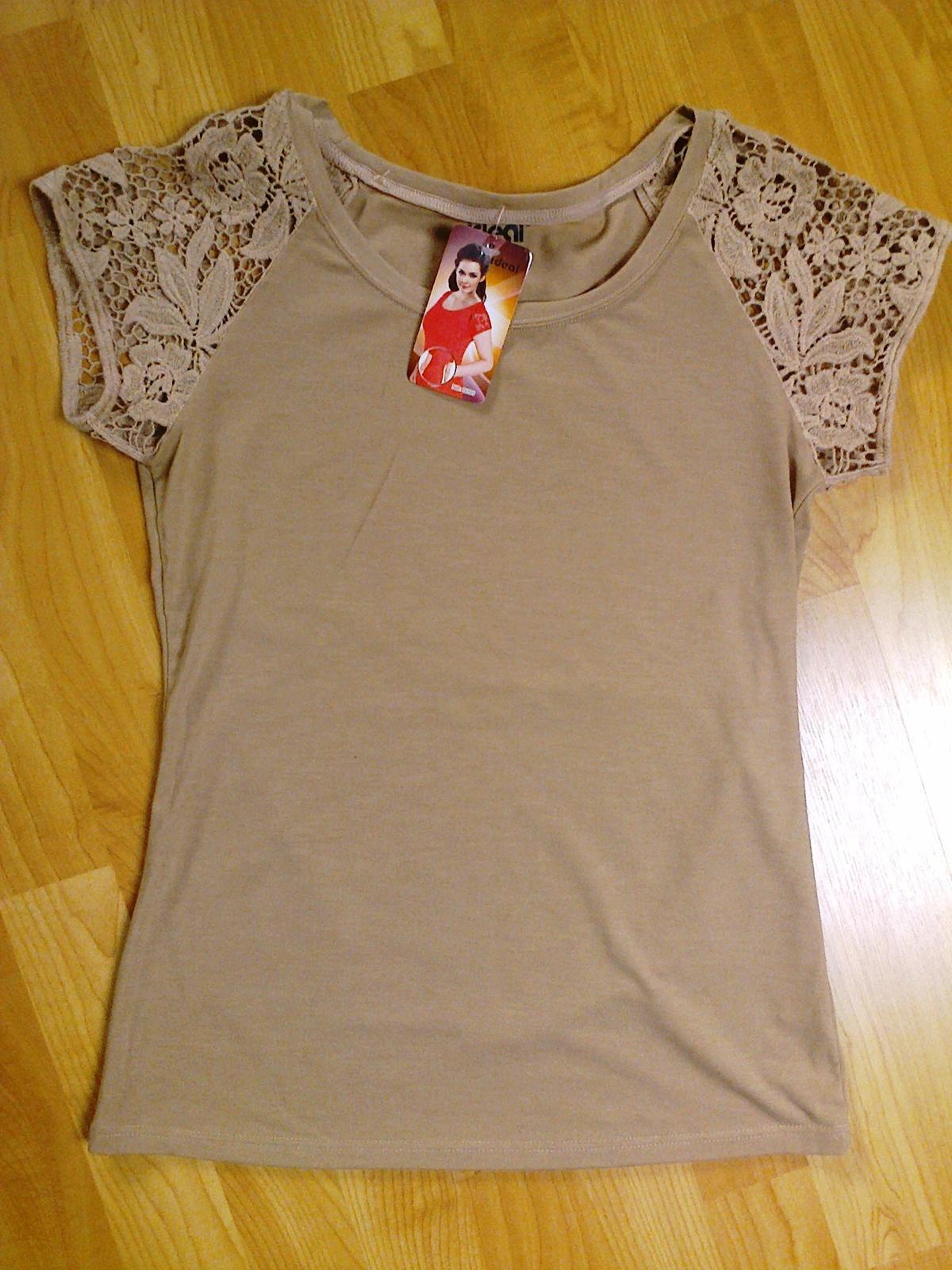Tričko s krajkovými rukávy - Obrázek č. 1