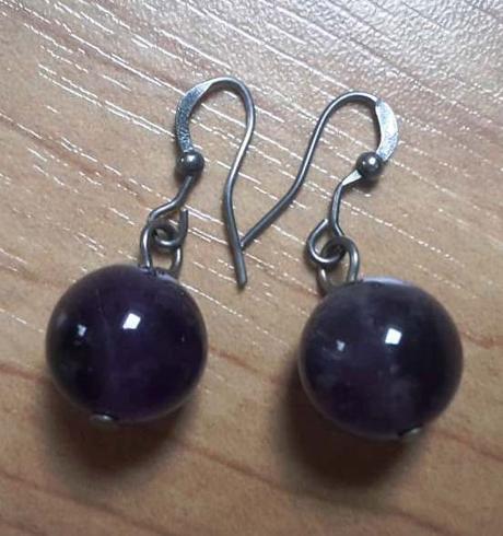 Náušnice fialové  - Obrázek č. 1