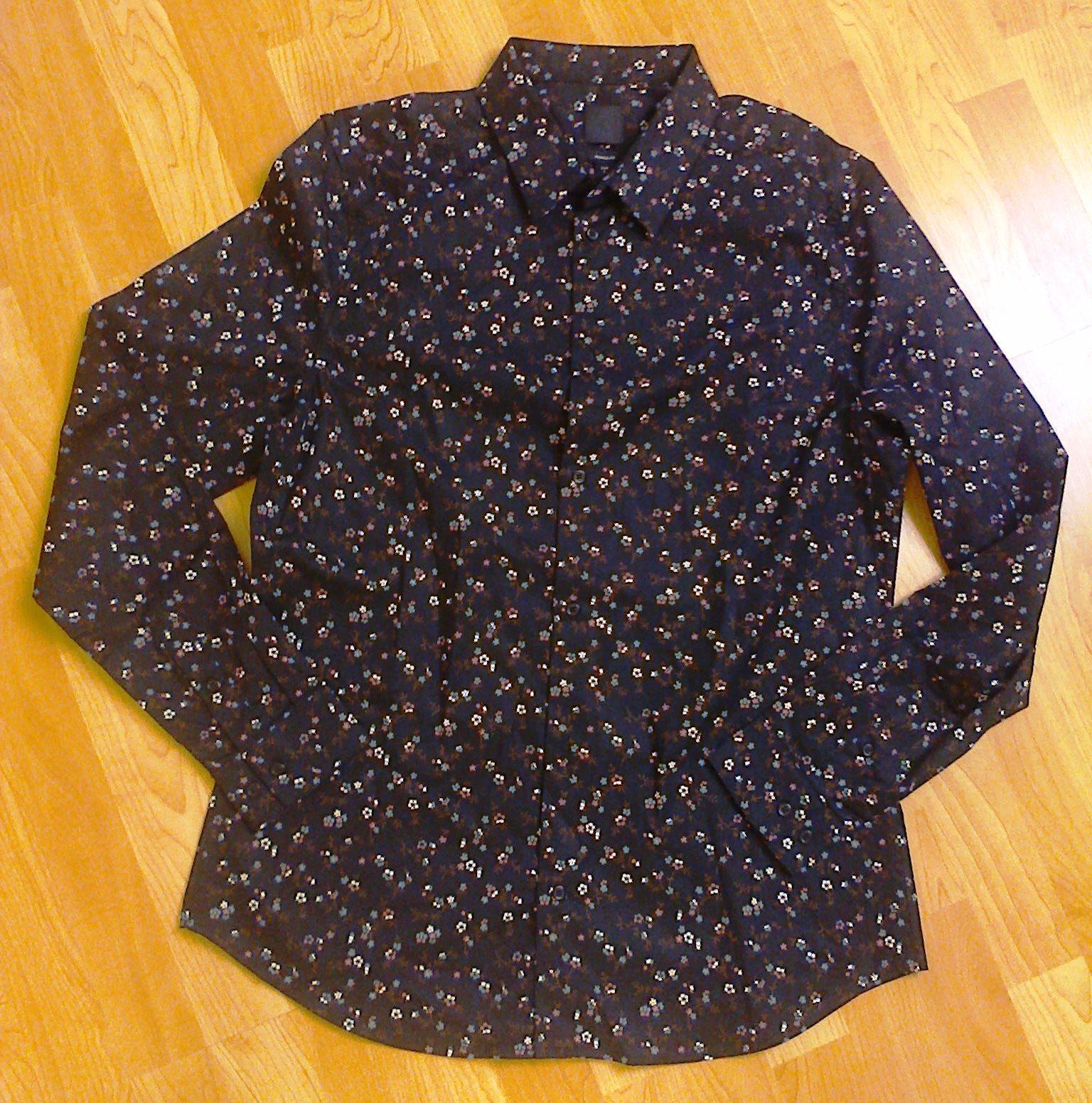 Pánská květinová košile H&M Muscle Fit - Obrázek č. 1