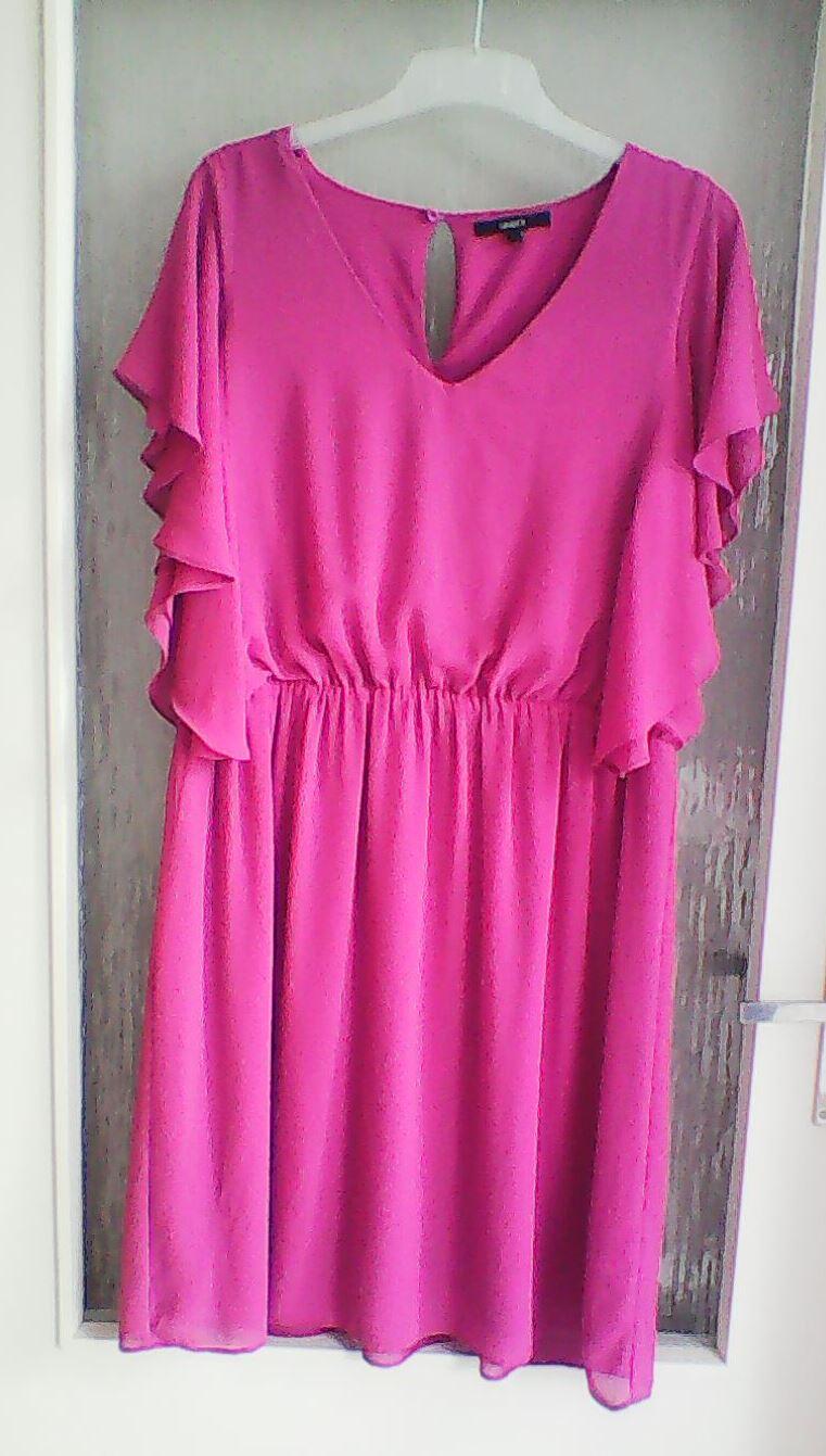 Fuchsiové Lindex šaty - Obrázek č. 1