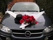 Výzdoba na svadobné auto,