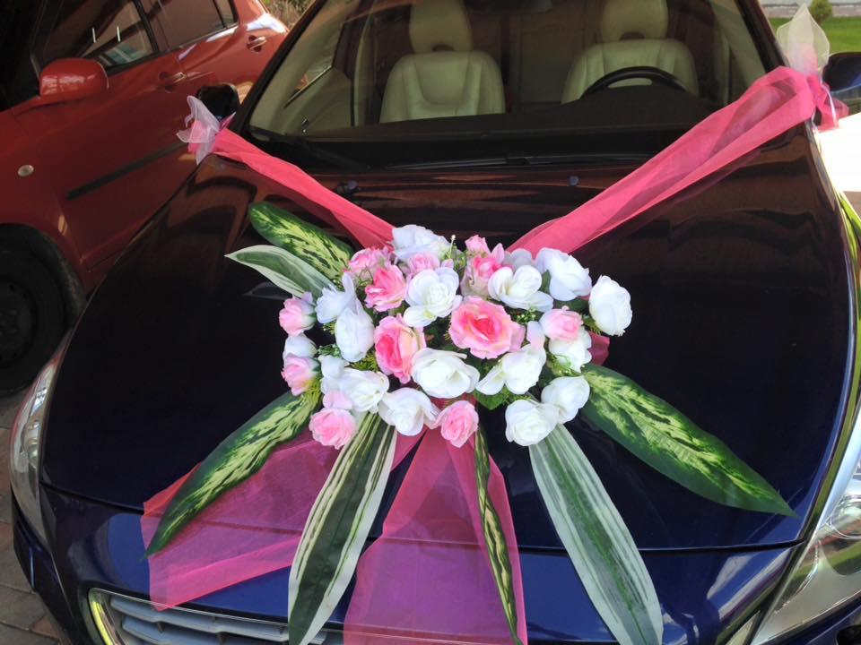 Ružová výzdoba na auto A 034 - Obrázok č. 1