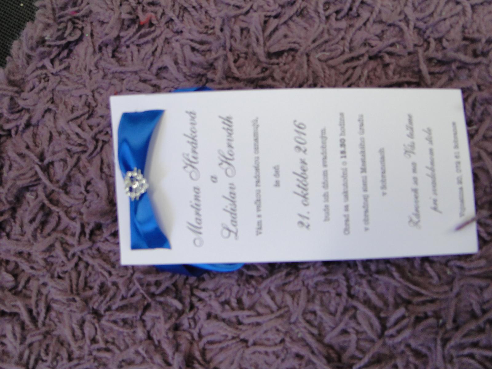 Svadobné oznámenie - Obrázok č. 1