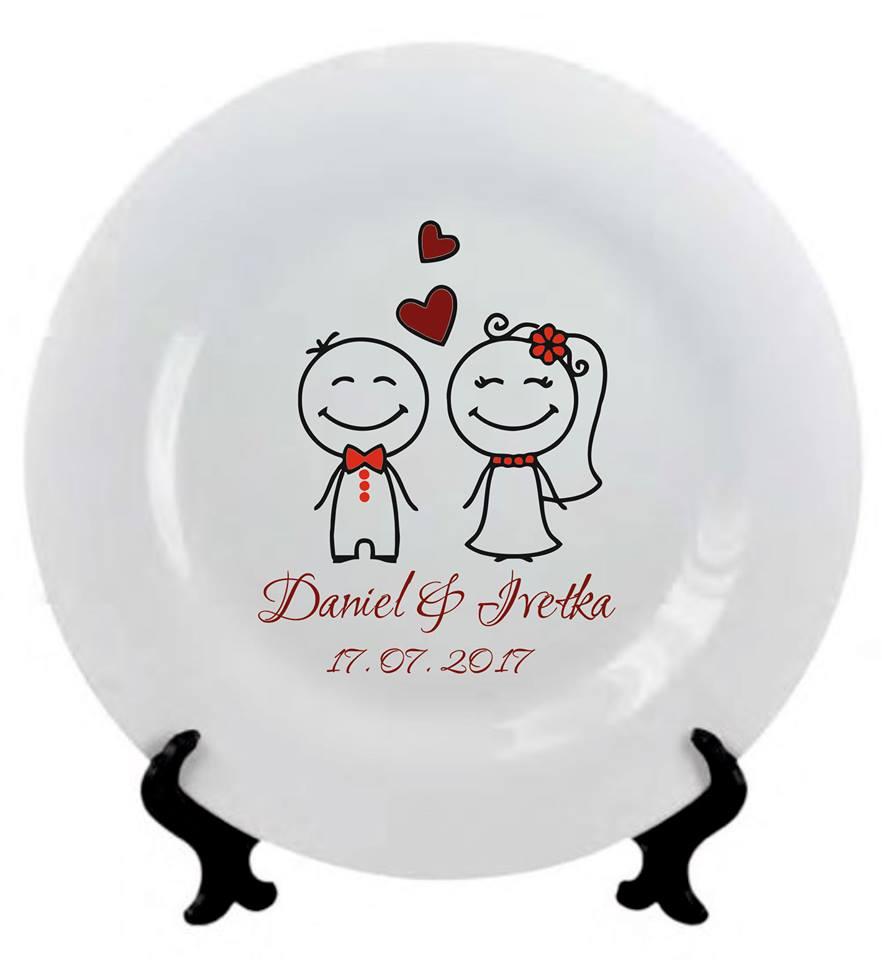 Svadobný tanier ST - Obrázok č. 1