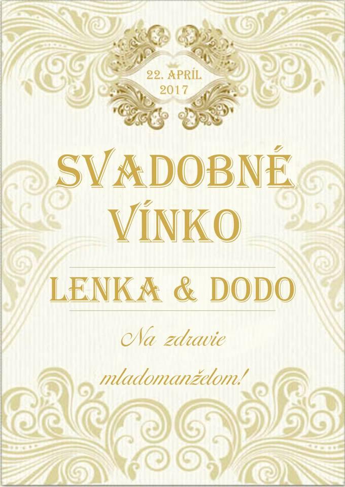 etiketa na víno zlate - Obrázok č. 1