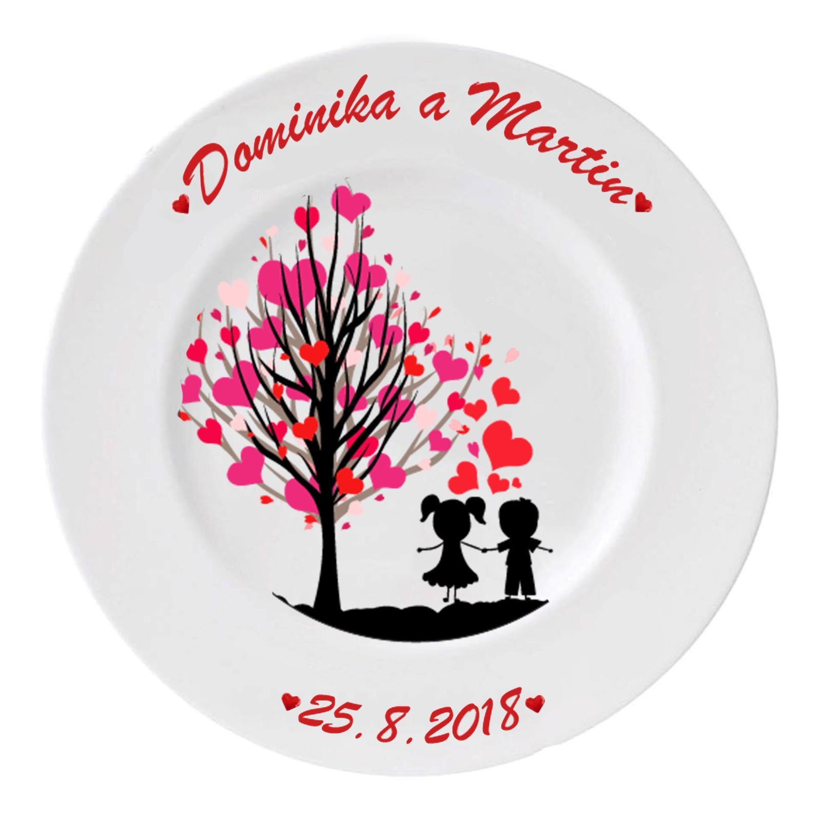 Svadobný tanier I - Obrázok č. 1