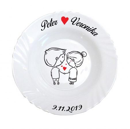 Svadobný tanier DF - Obrázok č. 1