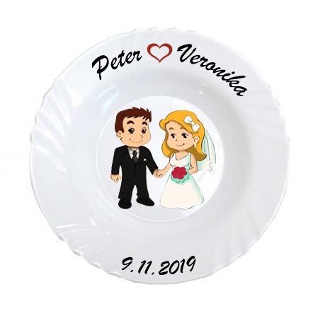 Svadobný tanier NV - Obrázok č. 1