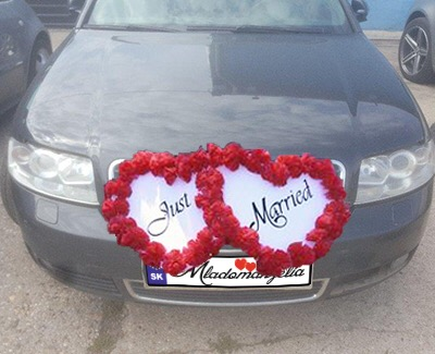 Výzdoba na svadobné auto A 105 - Obrázok č. 1