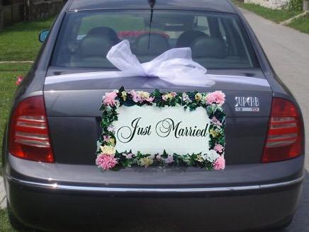 Svadobná výzdoba na auto A 106 - Obrázok č. 1