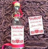 Fľaštičky pre svadobčanov,