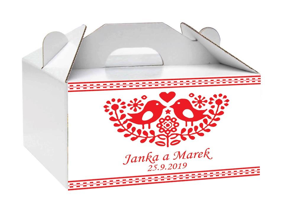 Krabice na svadobné koláče - Obrázok č. 1