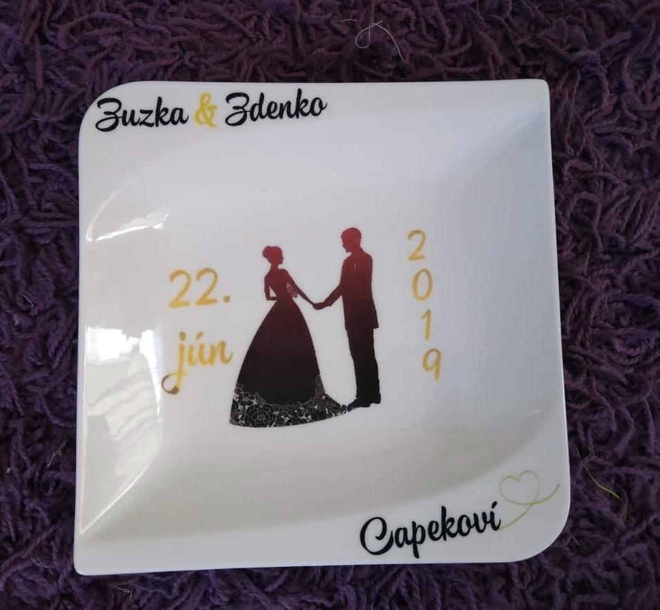 Svadobný tanier DW - Obrázok č. 1
