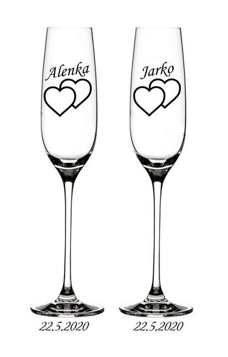 Svadobné poháre G 003 - Obrázok č. 1