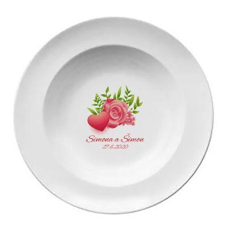 Svadobný tanier T 045 - Obrázok č. 1