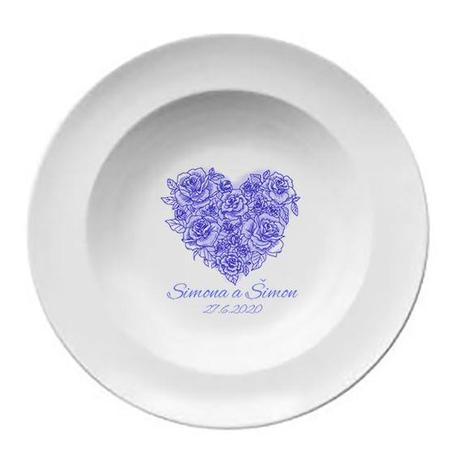 Svadobný tanier T 046 - Obrázok č. 1
