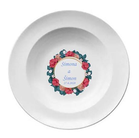 Svadobný tanier T 047 - Obrázok č. 1