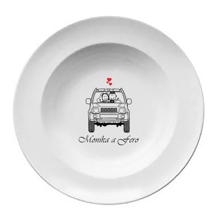Svadobný tanier T 048 - Obrázok č. 1