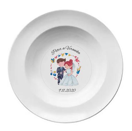 Svadobný tanier T 064 - Obrázok č. 1